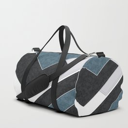 Black blue patchwork Duffle Bag