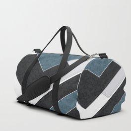 Black blue patchwork Duffle Bag