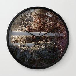 Ice Storm Beauty Wall Clock