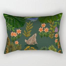 Little Bunny Rabbit on tropical adventure Rectangular Pillow