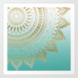 Pretty hand drawn tribal mandala elegant design Art Print