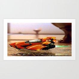 Speeder/Shuttle Art Print