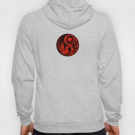 Red and Black Dragon Phoenix Yin Yang Hoody