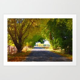 Autumn Country Lane Art Print