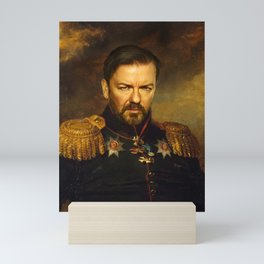 Ricky Gervais - replaceface Mini Art Print