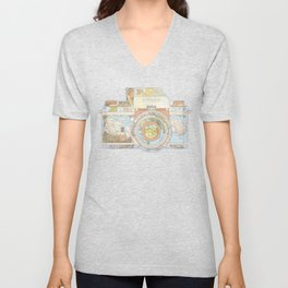 TRAVEL NIK0N Unisex V-Neck