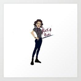 Rockin Roni - Regina - Lana Parrilla, Once Upon A Time Art Print