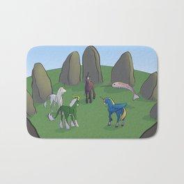 A Council of Unicorns Bath Mat