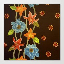 Vintage Flowery Serpentine Canvas Print