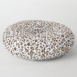 Leopard Print White Background Floor Pillow