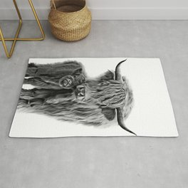 Highland Cow and The Baby Rug