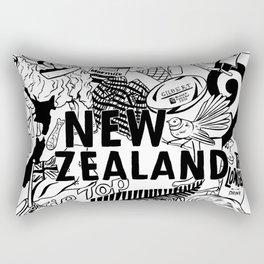 Kiwiana Doodle Rectangular Pillow
