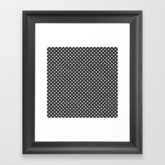 Polka Dots Walls Framed Art Print