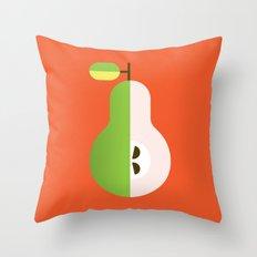 Fruit: Pear Throw Pillow
