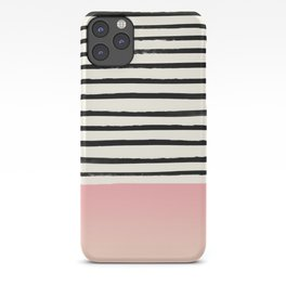 Blush x Stripes iPhone Case