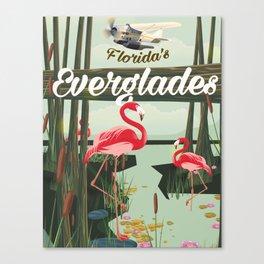 Everglades travel poster Canvas Print
