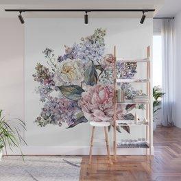 Watercolor Bouquet Wall Mural