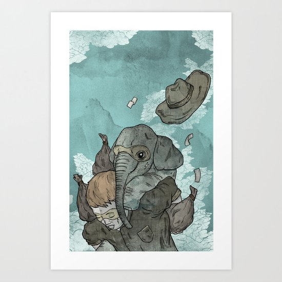 A dream about robbing a bank together Art Print