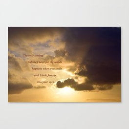 Long Beach Sunset with poem: Lasting Tribute Canvas Print