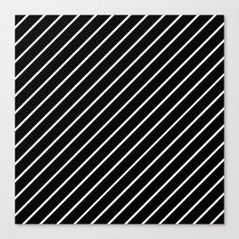 Hot 80s Style Diagonal Black and White Geometric Pattern Canvas Print