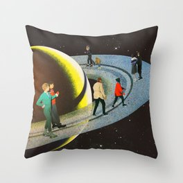 Saturn's Rink Throw Pillow