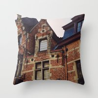 brussels Throw Pillows featuring Brussels by monography