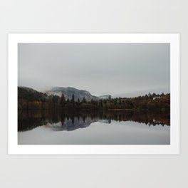 Reflection. Scotland. Art Print