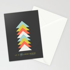 Life is the glorious adventure Stationery Cards