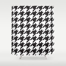 Houndstooth (Black and White) Shower Curtain