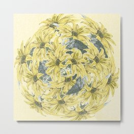 Sunflower burst Metal Print