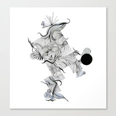 Abstract Line Drawing Canvas Print