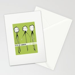 « têtes de caboche .6 »   Stationery Cards