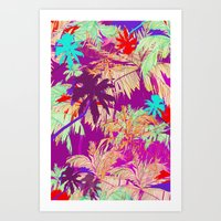 palm trees Art Prints featuring Palm Trees by Marcella Wylie