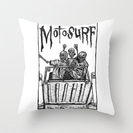 Motosurf Throw Pillow