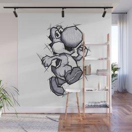 Yoshi Handmade Drawing, Games Art, Super Mario, Nintendo Art Wall Mural
