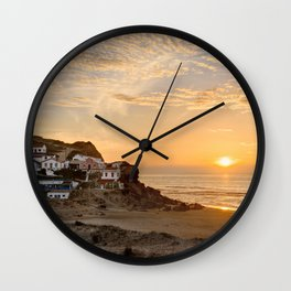 Sunset on the Costa Vicentina, Portugal Wall Clock