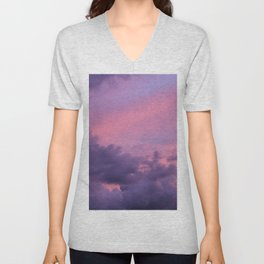 Cotton Candy Clouds Unisex V-Neck