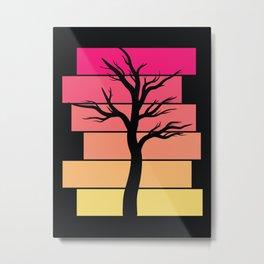 Tree Silhouette (Sunrise) Metal Print