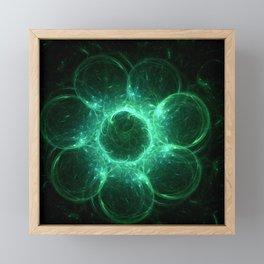 fractal blossom Framed Mini Art Print