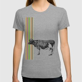 Retro Stripes and Cow T-shirt