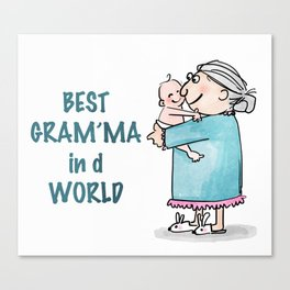 Best Granny Canvas Print