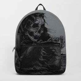 Skeleton Holding Diamond Backpack