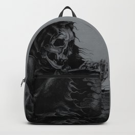 Skeleton Holding Diamond Backpack