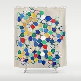hex study Shower Curtain