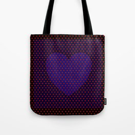 Blue Heart Under Red. Tote Bag