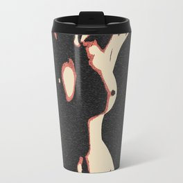 Body in the Shadows, sexy abstract artwork, perfect nude girl, naked woman erotic art Travel Mug