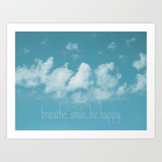 Blue Sky Meditation Art Print
