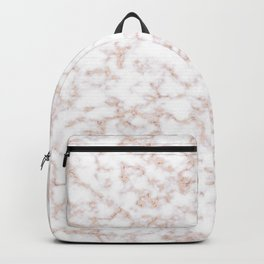 Rose Gold Marble Pattern Backpack