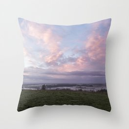 Morning's Blush Throw Pillow