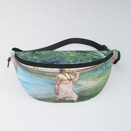 12,000pixel-500dpi - John La Farge - Girls Carrying a Canoe, Vaiala in Samoa - Digital Remastered Fanny Pack